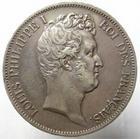 Photo numismatique  Monnaies Monnaies Fran�aises Louis Philippe 5 Francs LOUIS PHILIPPE Ier, 5 francs t�te nue, 1830 A Tranche en relief, G.676a TTB+