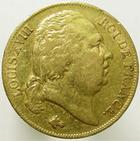 Photo numismatique  Monnaies Monnaies Fran�aises Louis XVIII 20 Francs or LOUIS XVIII, 20 francs or 1818 W Lille, G.1028 TB � TTB