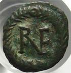 Photo numismatique  Monnaies Peuples Barbares Ostrogoth AE, AES, Bronze RAVENNE, RAVENNA, Theodoric, 493.526, Ae de 10 nummi?, 3.06 Grammes, Kluge.78 Var./ MIB.72a, TTB R!