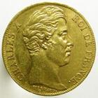 Photo numismatique  Monnaies Monnaies Françaises Charles X 20 Francs or CHARLES X, 20 francs or 1827 W Lille, G.1029 (3431 exemplaires!!) Presque SUPERBE Très rare!!!