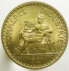 Photo numismatique  Monnaies Monnaies Françaises Troisième République 1 Franc 1 Franc Domard 1921, G.468 SUPERBE à FDC
