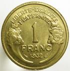 Photo numismatique  Monnaies Monnaies Fran�aises Troisi�me R�publique 1 Franc 1 Franc Morlon 1932, G.470 SUPERBE