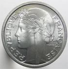 Photo numismatique  Monnaies Monnaies Françaises 4ème république 1 Franc 1 Franc Morlon aluminium, 1957 B, G.473b SUPERBE+