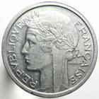 Photo numismatique  Monnaies Monnaies Françaises Gouvernement Provisoire 1 Franc 1 Franc Morlon aluminium, 1945, G.473a SUPERBE+