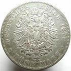 Photo numismatique  Monnaies Monnaies étrangères Allemagne Baden 5 Mark BADEN, BADE, 5 mark 1875 G, Friedrich, J.27F TTB