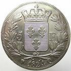 Photo numismatique  Monnaies Monnaies Fran�aises Louis XVIII 5 Francs LOUIS XVIII, 5 francs 1824 Q Perpignan, G.614 TTB � SUPERBE