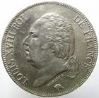 Photo numismatique  Monnaies Monnaies Françaises Louis XVIII 5 Francs LOUIS XVIII, 5 francs 1824 I Limoge, G.614 TTB à SUPERBE