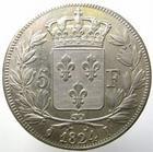 Photo numismatique  Monnaies Monnaies Fran�aises Louis XVIII 5 Francs LOUIS XVIII, 5 francs 1824 I Limoge, G.614 TTB � SUPERBE