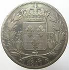 Photo numismatique  Monnaies Monnaies Françaises Louis XVIII 5 Francs LOUIS XVIII, 5 francs 1817 K Bordeaux, G.614 TB/TB+
