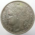 Photo numismatique  Monnaies Monnaies Françaises Défense nationale 5 Francs 5 francs Cérès 1870 A avec légende, G.743 TTB