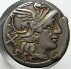 Photo numismatique  Monnaies R�publique Romaine 152 av Jc Denier, denar, denario, denarius L.SAUFEIUS, denier, 152 avant Jc, Bige � droite conduit par uen victoire, S.83 TTB