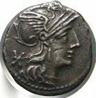 Photo numismatique  Monnaies R�publique Romaine 132 av Jc Denier, denar, denario, denarius P.MAEMIUS M.F, denier, 132 avant jc, quadrige conduit par une victoire, S.126 TTB/TTB+