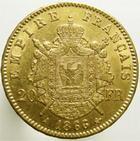 Photo numismatique  Monnaies Monnaies Françaises Second Empire 20 Francs or NAPOLEON III,1866 A, 20 francs or tête laurée, G.1062 TTB+