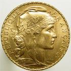 Photo numismatique  Monnaies Monnaies Fran�aises Troisi�me R�publique 20 Francs or 20 francs or 1914, type marianne, coq, G.1064a TTB+