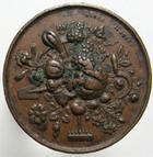 Photo numismatique  Monnaies Médailles Horticulture Cuivre/laiton HORTICULTURE, ROUEN 1836, société d'utilité publique et central,gravure: Lecomte Rober, diamètre 23 mm TTB