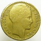 Photo numismatique  Monnaies Monnaies Françaises Troisième République 10 francs bronze-aluminium 10 Francs Turin 1930 en bronze-aluminium (essai??),8.53 grammes, G.801 variante  TTB Rare!!