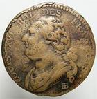 Photo numismatique  Monnaies Monnaies de la Révolution Constitution 12 Deniers LOUIS XVI, 1791 BB Strasbourg, 12 deniers, G.15 TB+