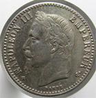 Photo numismatique  Monnaies Monnaies Françaises Second Empire 50 Centimes NAPOLEON III, 50 centimes 1865 BB Strasbourg, G.417 TTB