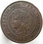 Photo numismatique  Monnaies Monnaies Françaises Troisième République 2 Centimes 2 Centimes Cérès 1882 A, G.105 Petit coup sinon TTB+