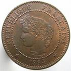 Photo numismatique  Monnaies Monnaies Françaises Troisième République 2 Centimes 2 centimes 1894 A, G.105 petit coups sur la joue et le cou sinon SUPERBE Rare!!