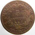 Photo numismatique  Monnaies Monnaies Fran�aises Troisi�me R�publique 5 Centimes 5 centimes C�r�s 1896 A Torche!!, G.157a B � TB Rare!R!