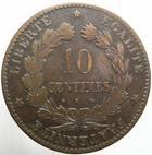 Photo numismatique  Monnaies Monnaies Fran�aises Troisi�me R�publique 10 Centimes 10 centimes C�r�s 1873 K, G.265a TB