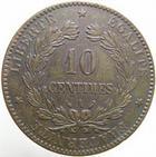 Photo numismatique  Monnaies Monnaies Fran�aises Troisi�me R�publique 10 Centimes 10 centimes C�r�s 1889 A, G.265a TTB