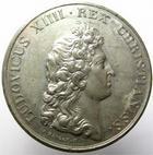Photo numismatique  Monnaies Médailles 19ème siècle Epreuve en étain Epreuve en étain, Buste de Louis XIV, diamètre 39.70 mm, uniface, graveur I.MAUGER.F, TTB à SUPERBE