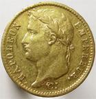 Photo numismatique  Monnaies Monnaies Française en or 1er Empire 20 Francs or NAPOLEON Ier, 20 francs or 1811 A, G.1025 TB à TTB