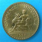 Photo numismatique  Monnaies Monnaies Françaises Troisième République 1 Franc TROISIEME REPUBLIQUE 1 Franc type DOMARD, 1927, G.468 SUP à FDC