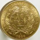 Photo numismatique  Monnaies Monnaies Française en or Troisième République 10 Francs or 10 Francs or Cérès, 1896 A, G.1016, infimes traces sinon SUPERBE/SUPERBE+