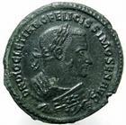 Photo numismatique  Monnaies Empire Romain DIOCLETIEN, DIOCLETIANUS, DIOCLETIAN, DIOCLETIANO Follis, folles,  DIOCLETIANUS, DIOCLETIEN, follis, Trêves, Providentiae Deorum Quies Augg, 9.52 grammes, RIC.676a TTB à SUPERBE