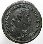Photo numismatique  Monnaies Empire Romain DIOCLETIEN, DIOCLETIANUS, DIOCLETIAN, DIOCLETIANO Follis, folles,  DIOCLETIANUS, DIOCLETIEN, follis, Trêves, Providentiae Deorum Quies Augg, 10.37 Grammes, RIC.676a corrosion au revers sinon SUPERBE/TTB