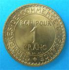Photo numismatique  Monnaies Monnaies Françaises Troisième République 1 Franc 3ème REPUBLIQUE 1 Franc type DOMARD, 1921, G.468, SUP à FDC