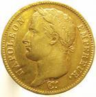 Photo numismatique  Monnaies Monnaies Françaises 1er Empire 40 Francs or NAPOLEON Ier, 40 francs or 1810 W Lille, G.1084 TTB