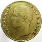 Photo numismatique  Monnaies Monnaies Françaises 1er Empire 40 Francs or NAPOLEON Ier, 40 francs or 1806 A, G.1082 Petit coup sur tranche sinon Presque TTB
