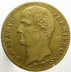 Photo numismatique  Monnaies Monnaies Françaises Consulat 40 Francs or BONAPARTE Premier Consul, 40 francs or AN 12 A, G.1080 TTB
