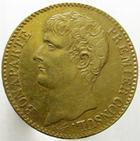 Photo numismatique  Monnaies Monnaies Françaises Consulat 40 Francs or BONAPARTE Premier Consul, 40 francs or AN XI A, G.1080 petits coups sur tranche sinon TTB+