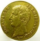 Photo numismatique  Monnaies Monnaies Française en or Consulat 20 Francs or BONAPARTE PREMIER CONSUL, 20 francs or AN 12 A, G.1021 graffitis sous le 20 sinon TTB