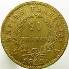 Photo numismatique  Monnaies Monnaies Française en or 1er Empire 20 Francs or NAPOLEON Ier, 20 francs or 1812 A, G.1025 TTB