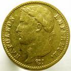 Photo numismatique  Monnaies Monnaies Française en or 1er Empire 20 Francs NAPOLEON Ier, 20 francs or 1811 A, G.1025 TTB