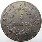 Photo numismatique  Monnaies Monnaies Françaises 1er Empire 5 Francs NAPOLEON Ier, 5 francs 1811 A, G.584 traces de nettoyage, TTB