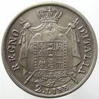 Photo numismatique  Monnaies Monnaies Françaises Napoleonides 2 Lires NAPOLEON Ier, 2 lires 1811 M Milan, Gigante 140a ( 1 sur 0 ), variété les hallebardes se terminent par des pointes au revers, TB à TTB R!
