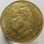 Photo numismatique  Monnaies Monnaies Fran�aises Louis Philippe 20 Francs or LOUIS PHILIPPE, 20 francs or 1840 A, G.1031 TTB