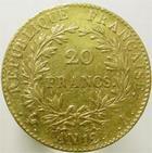 Photo numismatique  Monnaies Monnaies Françaises Consulat 20 Francs or BONAPARTE Premier Consul, 20 francs or AN 12 A, G.1020 TTB