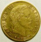 Photo numismatique  Monnaies Monnaies Française en or Second Empire 5 Francs or NAPOLEON III, 5 francs or lauré 1866 BB, G.1002 TTB/TTB+