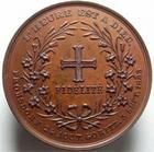 Photo numismatique  Monnaies Médailles 19ème siècle Médaille bronze HENRI DE France, Médaille en bronze de 50mm, gravé par Leopold Wiener, 1883, Frohsdorf le 24 Aout, Goritz le 3 Septembre, l'heure est à Dieu, SUPERBE