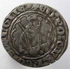 Photo numismatique  Monnaies Monnaies Féodales Aquitaine Demi gros AQUITAINE, Duché, EDOUARD Prince Noir, 1352.1372, demi gros de Poitiers, PA.2987, TTB+ Rare!