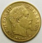 Photo numismatique  Monnaies Monnaies Française en or Second Empire 10 Francs or NAPOLEON III, 10 francs or lauré, 1867 A Paris, G.1002 TTB