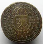 Photo numismatique  Monnaies Jetons Rechenpfennig Louis XIV LOUIS XIV, Rechenpfennig, CONRADT LAUFER, Buste de face, Rare! TTB
